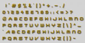 Transformer Font Set